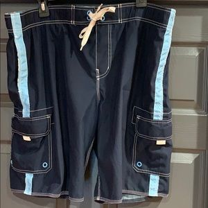 Old Navy Blue Swim Trunks with Lining